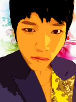 Woohyun Vector Popart by KpopGurl