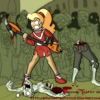 Cheerleader vs. Zombies by BrokenTeapot