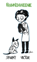 Frankenweenie - Sparky and Victor by caycowa