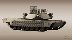 M1A2 Abrams TUSK 2 Armour by Pixel3Factory