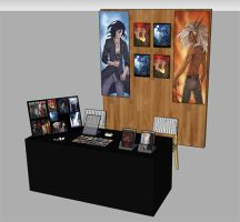 Model of our stand for MIA 2015 by Rakjah