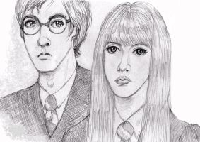 James Potter and Lily Evans by Atanapotnia