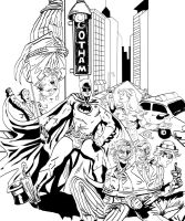Batman Rogues Ink by theDANEtrain