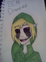 BEN Drowned Drawing by MinaCraftDash