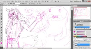pink monster proceso by miyukiZETA