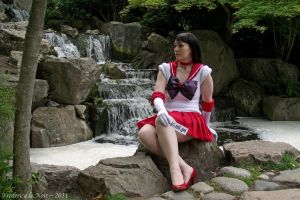Sailor Mars - On the lookout by Frederica-La-Noir