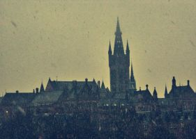 Snow at University of Glasgow by IoannisCleary