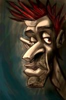 caricature face in iphone by heckthor