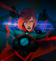Cyberpunk Katarina. by Pe-crowd