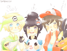 Supah Shoujo PKMN TRAINERS by milqo