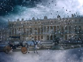 Versailles in the Winter - Premade Background by la-voisin