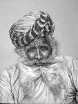 Charcoal Drawing Of An Indian Man by overground55
