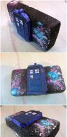 TARDIS belt buckle galaxy nebula pattern by kawaiibuddies