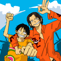 Ace x luffy by jaklovers