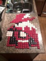 Red Mage 8 Bit Cookie by Afina79