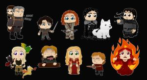 Chibi Game of Thrones by nina06