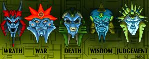 Quintesson Masks by Koilungfish