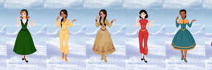Disney Princess Daughters by supereilonwypevensie