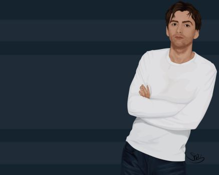 David Tennant Vector Wallpaper by ChewedKandi