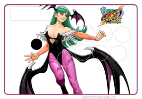 TvC Morrigan SE FightStick art by pinakaguwaping