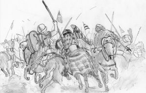 Blood and Dust, Battle of Ecija, 1275 AD by FritzVicari