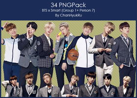 34 / BTS x Smart PNGPack by ChanHyukRu