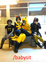 Babysit - Captor Cosplay - Homestuck by Mitternachto