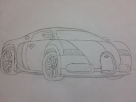 I drew my first bugatti by SaraTheDog848