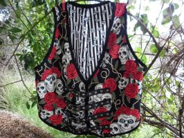 Vest Waistcoat Rose Tattoo by SewObession