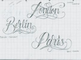 Tattoo Lettering 32 Citys by 12KathyLees12