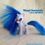 Vinyl Scratch, DJ P0N-3 custom pony by SetoSora