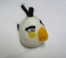 White Angry Bird by Jadest