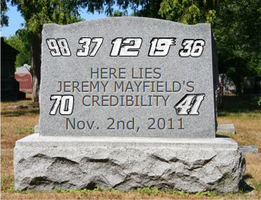 It's dead and buried by NASCAR-Caps