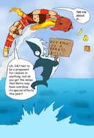 Chibi DK: Jumping the Shark by Shadow-Aspect