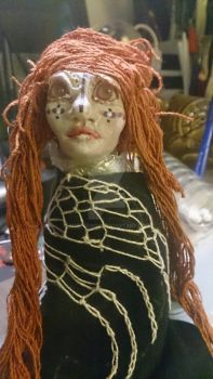 Ginger pink eyed female doll process 6 by AnetteAga