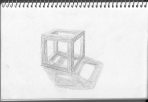 Cube frame and shadows by googleaseerch