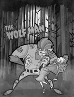 The wolfman by kungfumonkey
