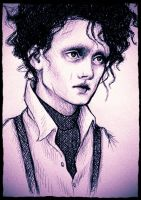 Edward Scissorhands- ballpoint pen by taylovestwilight