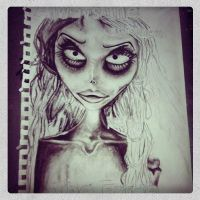 a w.i.p of Emily from corpse bride by tasharri