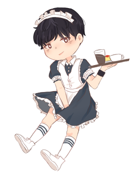 Maid Yoongi by Lovapples