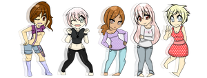 Pastel Babes Adopts -Closed- by QueenAdoptables