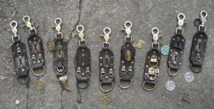 New leather fob+badge holders by missmonster