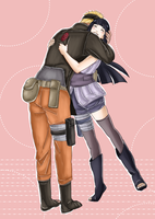 Naruto and Hinata by AnaUzumakii