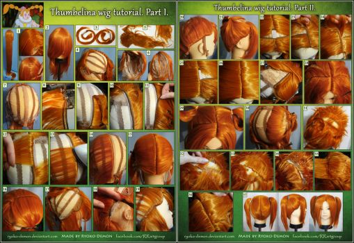 Thumbelina wig tutorial. Part I and II. Pigtails by Ryoko-demon