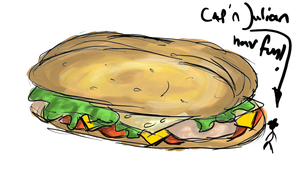 Sandwhich for me Capn by XFoxxDie