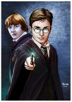 Harry Potter and Rony. by Troianocomics