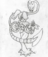 Squigy fighting pose (skullgirls) by Fundz64