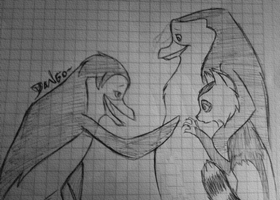 Skipper, Andry and Mara by MariaMarcuu