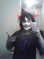 Gamzee cosplay for halloweenie by FantasticChibiRussia