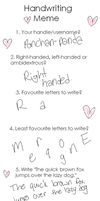 Handwriting Meme? :D by ponchan-panda